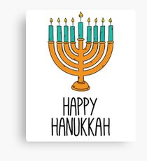 Happy Hanukkah Canvas Print