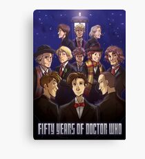 50 Years of Doctor Who Canvas Print