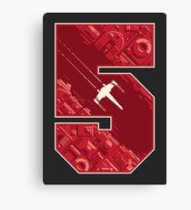 Red Five Canvas Print