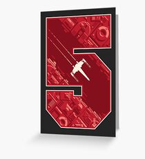 Red Five Greeting Card