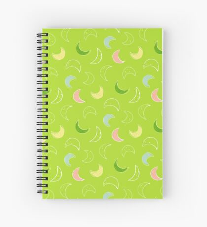 Green Moons Spiral Notebook