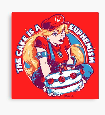 The Cake is a Euphemism Canvas Print