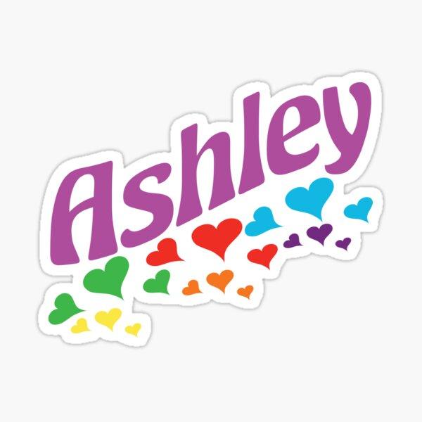 Camisa Retro Ashley First Name 80s Pegatina