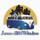 Low 21 Window VW Bus Splitty with Surfboard by Frank Schuster
