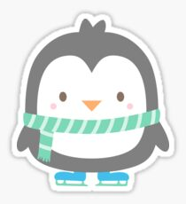 Cute Little Penguin with Scarf Sticker