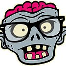 Zombie Geek Head by DetourShirts