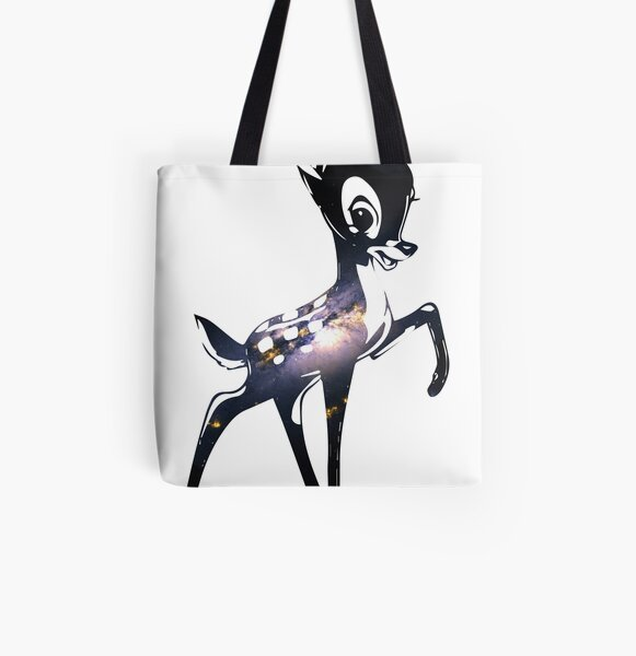 Space Bambi   Barred Spiral Galaxy All Over Print Tote Bag