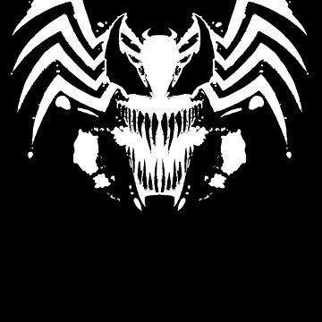 Rorschach Symbiote black by absolemstudio