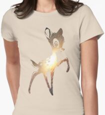 Space Bambi | Leo Women's Fitted T-Shirt