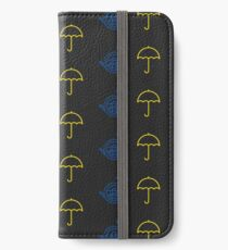 Blue French Horn Vs. Yellow Umbrella iPhone Wallet/Case/Skin