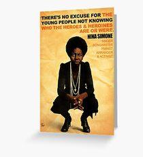 Nina Simone Nein Entschuldigung Grußkarte