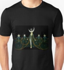 "Art Deco Design by Erte ""Queen of the Night"" Unisex T-Shirt"