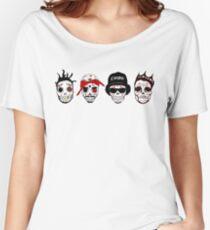 RIP MCs - Gangsta Rapper Sugar Skulls Women's Relaxed Fit T-Shirt