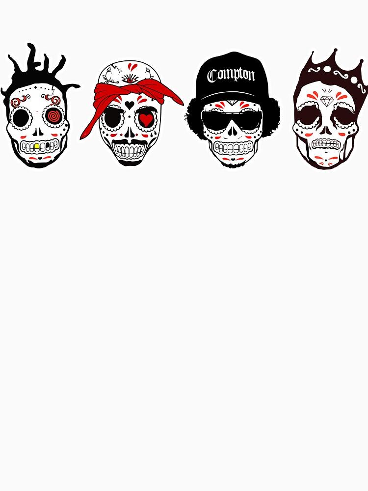 RIP MCs - Gangsta Rapper Sugar Skulls | Unisex T-Shirt