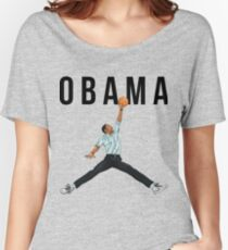 Obama Basketball Mashup Women's Relaxed Fit T-Shirt