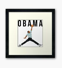 Obama Basketball Mashup Framed Print