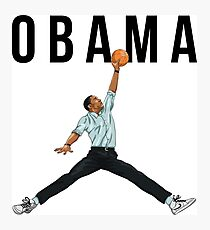 Obama Basketball Mashup Photographic Print