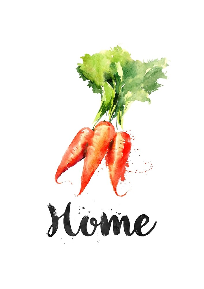Carrots. Home  by Books & Flights