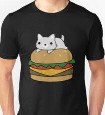 Funny Cat Hamburger  Unisex T-Shirt