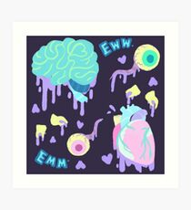 Medical Emergency - Pastel Gore Art Print