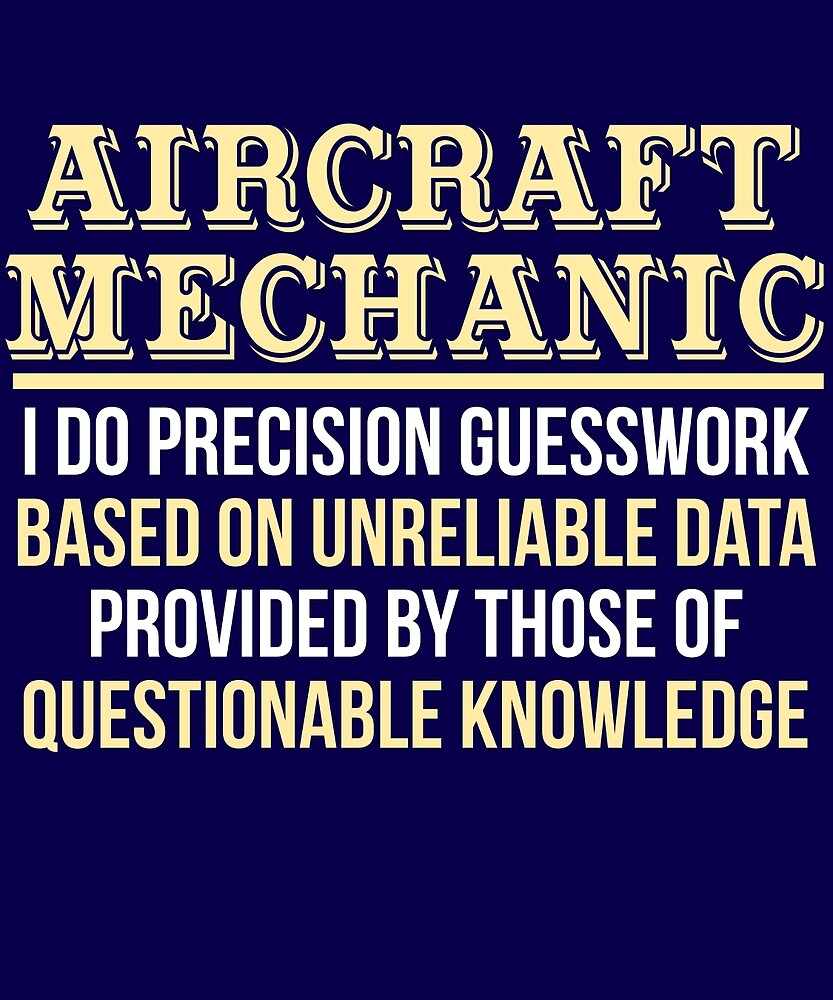 Aircraft Mechanic Definition Funny Gift T-Shirt by AlwaysAwesome