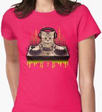 Cool Cat DJing by Basement Mastermind T-Shirt