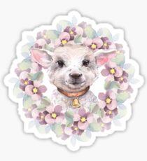 Goatling. Cute watercolor illustration Sticker