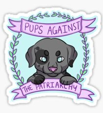 Pups against Patriarchy Sticker