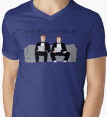 Camiseta para hombre de cuello en v Step Brothers - Estamos aquí para joder mierda