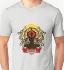 Meditation brings wisdom Unisex T-Shirt