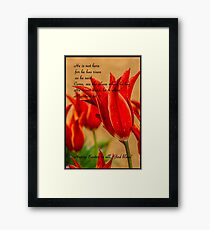 Bible Verse Matthew 28:6 Framed Print
