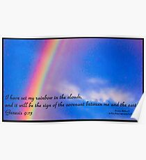 Bible Verse Genesis 9:13 Poster