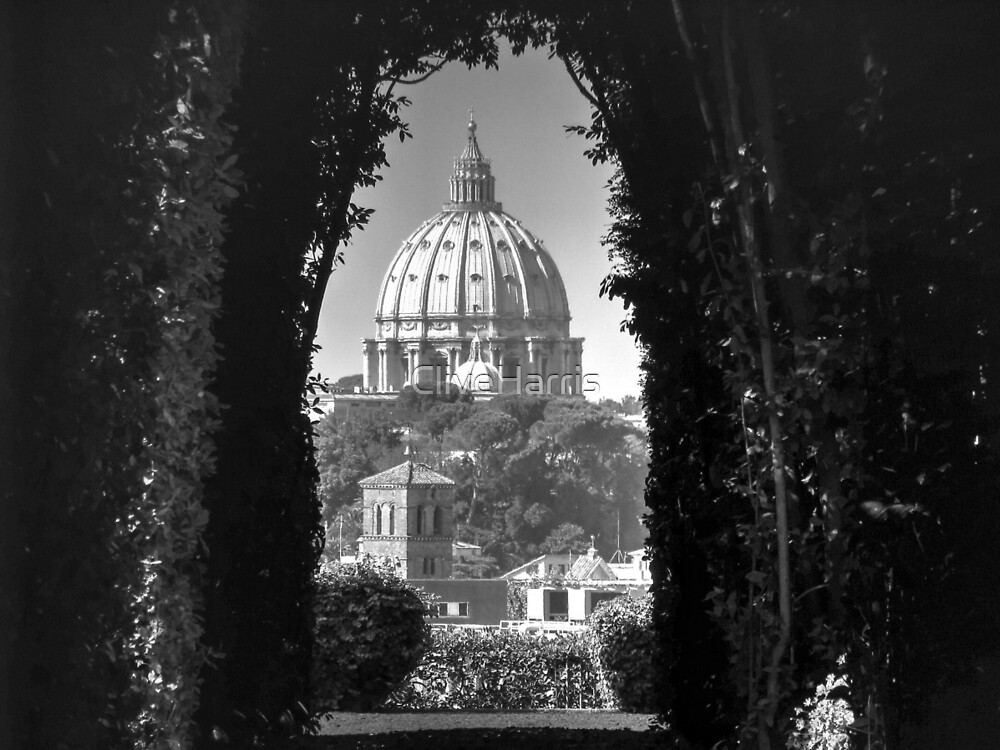 Vatican and St Peters Black & White by CliveHarris