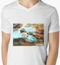 Swirls Mens V-Neck T-Shirt