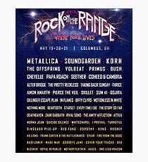 ROCK ON THE RANGE 2017 - WHERE ROCK LIVES LINEUP TOP POSTER Photographic Print