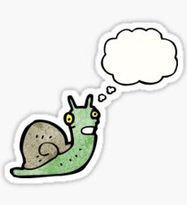 cartoon snail with thought balloon Sticker
