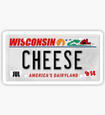 License Plate - CHEESE  Sticker