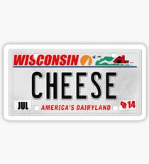 License Plate - CHEESE  Sticker
