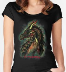 Dragonborn (Green Version) Women's Fitted Scoop T-Shirt