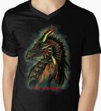 Dragonborn (Green Version) Men's V-Neck T-Shirt