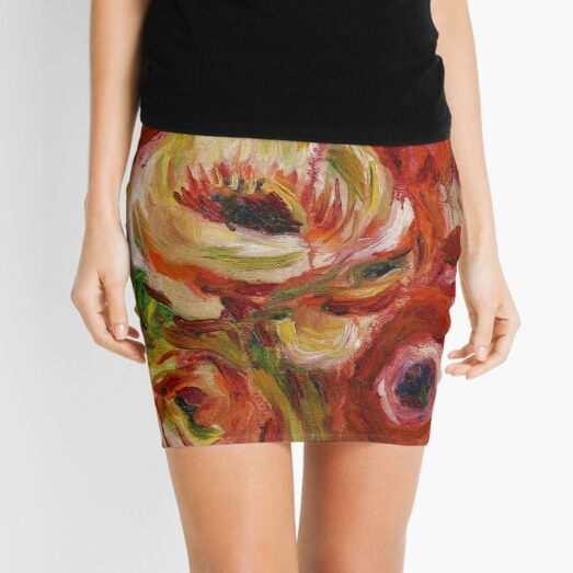 Pierre-Auguste Renoir - Anemones Mini Skirt