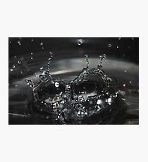 Double water drops Photographic Print