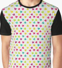 Pattern with roosters, bright colors Graphic T-Shirt