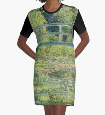 Claude Monet - Seerosenteich T-Shirt Kleid