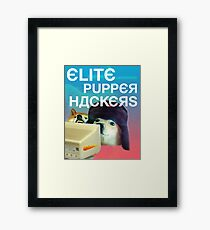 ELITE RUSSIAN HACKERS [large russian lettering edition] Framed Print