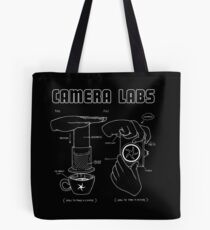Cameralabs Photography and Coffee (White artwork) Tote Bag