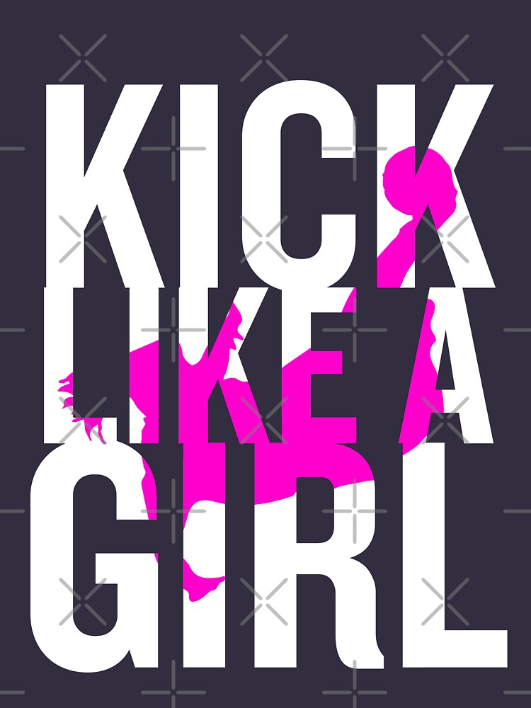 Kick Like A Girl Funny Soccer Girls Ladies Pink Gift by JapaneseInkArt