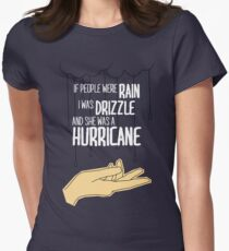 She Was A Hurricane Womens Fitted T-Shirt