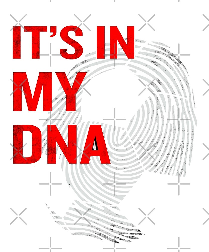 Soccer Is In My DNA Funny Quote Fingerprint Blood by JapaneseInkArt