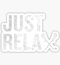 Just ReLAX Lacrossee Awesome Sports Stick Athlete Sticker